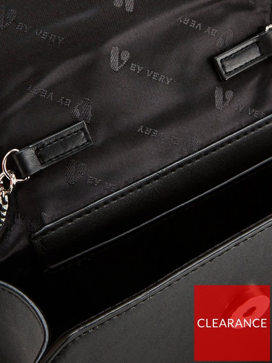 c311bf22bf ... V by Very Perrie Chain Trim Boxy Bag - Black. View larger