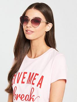 Mcq Alexander Mcqueen Extreme Cateye Sunglasses - Pink
