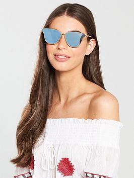 Mcq Alexander Mcqueen Cat Eye Sunglasses - Gold/Blue