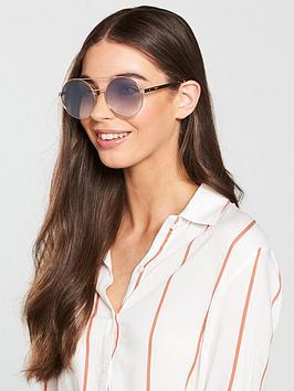 Mcq Alexander Mcqueen Round Lens Sunglasses - Silver
