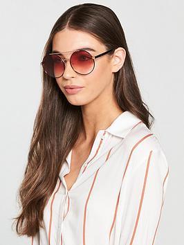 Mcq Alexander Mcqueen Gradient Lens Round Sunglasses
