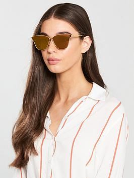 Mcq Alexander Mcqueen Cat Eye Sunglasses - Gold/Bronze