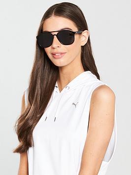 Puma Brow Bar Sunglasses - Black