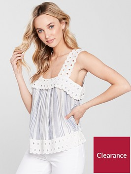river-island-broderie-trim-stripe-top-blue