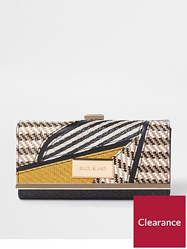 river-island-cutabout-cliptop-purse-yellow