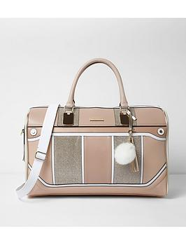 river-island-panelled-weekend-bag-beige
