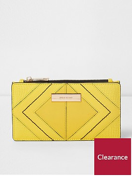 river-island-slim-foldout-purse-yellow