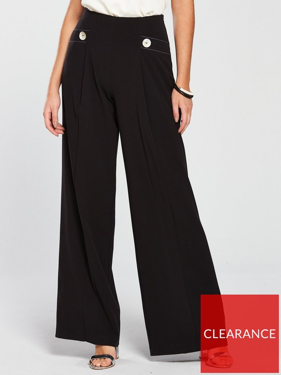 d775f94d41bf V by Very Contrast Wide Leg Trouser - Black
