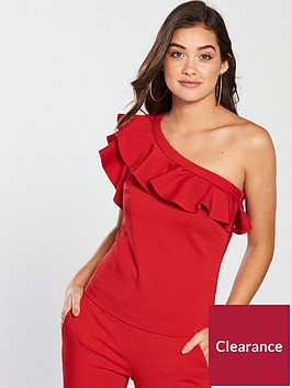 v-by-very-off-the-shoulder-frill-top-red