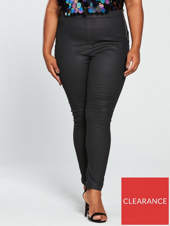17d4f83a82 V by Very Curve Coated Jegging - Black | very.co.uk