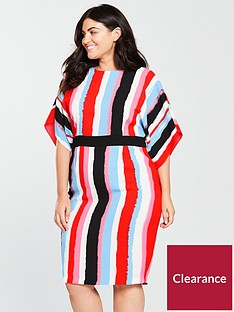 v-by-very-curve-stripe-pencil-dress-multi