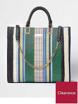 river-island-weave-detail-chain-front-tote-bag-multi