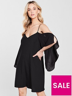 river-island-cold-shoulder-swing-dress-black