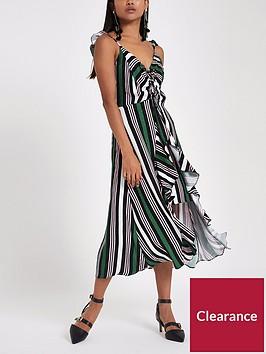 ri-petite-ruched-detail-stripe-slip-dress--nbspgreen