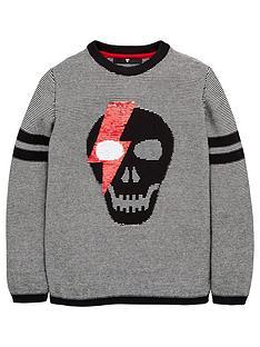 v-by-very-boys-reversible-sequin-skull-knitted-jumper-black