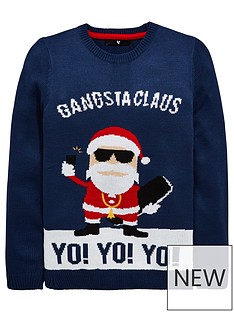 v-by-very-yo-yo-yo-gangsta-claus-chritsmas-knitted-jumper