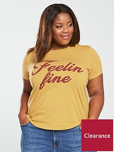 v-by-very-curve-feelin-fine-slogan-t-shirt-yellow