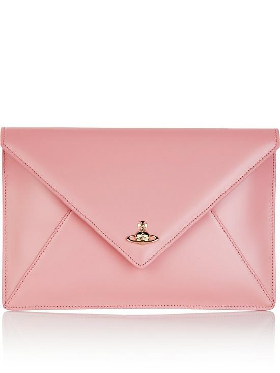 ef3b031dd168 VIVIENNE WESTWOOD Exclusive Private Envelope Clutch Bag - Light Pink ...
