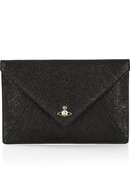 vivienne-westwood-exclusive-glitter-envelope-clutch-bag-black