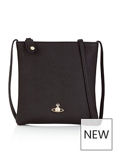 71d7bee719c VIVIENNE WESTWOOD Victoria Square Cross-Body Orb Bag - Black