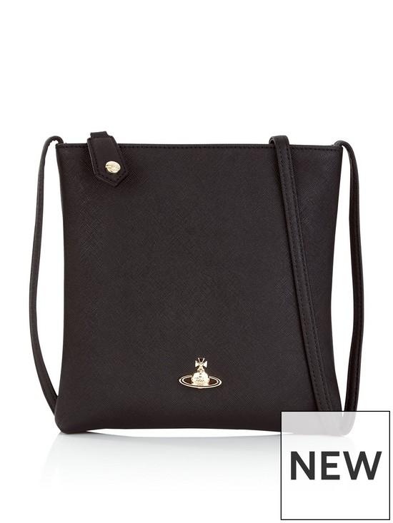 c73c75d511e VIVIENNE WESTWOOD Victoria Square Cross-Body Orb Bag - Black | very ...