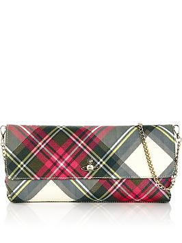 vivienne-westwood-derby-long-tartan-chain-strap-clutch-bag-red