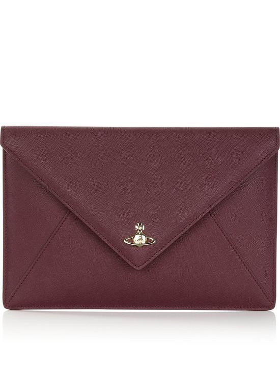fd1bf728c84 VIVIENNE WESTWOOD Private Envelope Pouch - Burgundy   very.co.uk