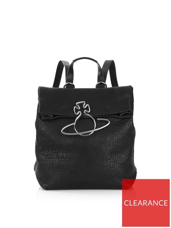 47178512f6b VIVIENNE WESTWOOD Oxford Orb Detail Large Backpack - Black | very.co.uk