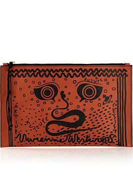 vivienne-westwood-greek-eyes-africa-pouch-bag-burnt-orange