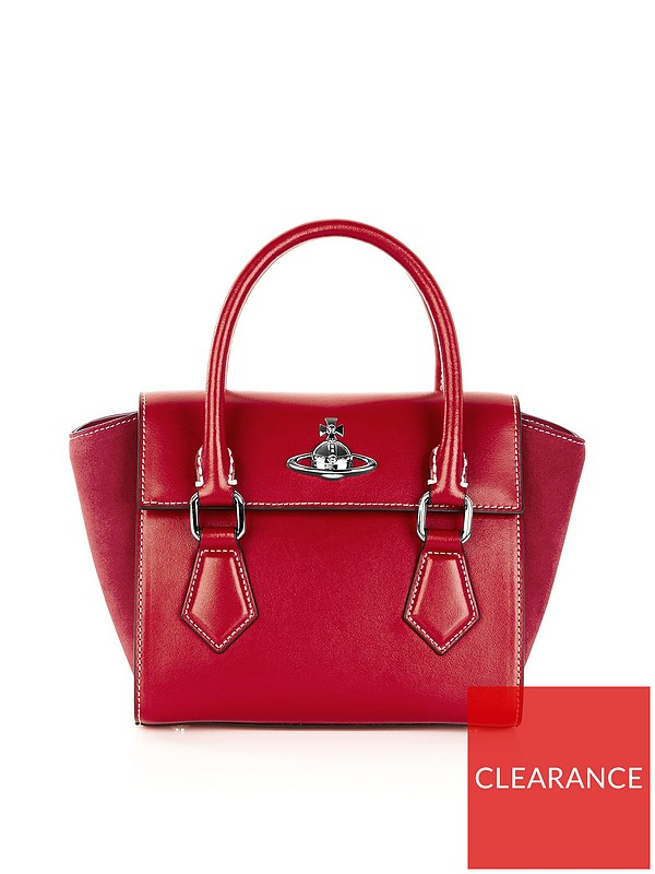259020e11879 VIVIENNE WESTWOOD Matilda Small Tote Bag - Red | very.co.uk