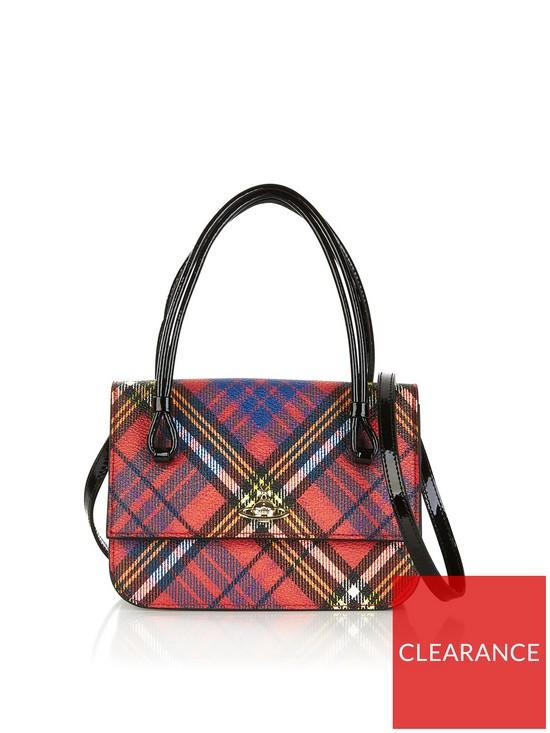 b23d0c4cf2 VIVIENNE WESTWOOD Edinburgh Small Handbag- Red Multi | very.co.uk