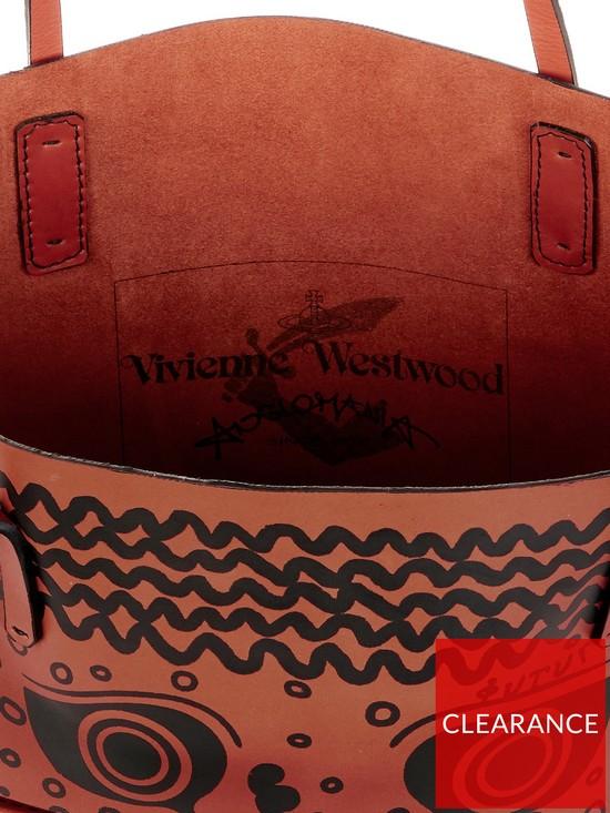 fa0655915d ... VIVIENNE WESTWOOD Greek Eyes Leather Africa Shopper Bag - Burnt Orange.  View larger
