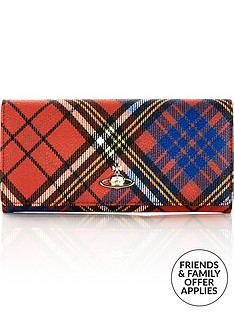 vivienne-westwood-derby-tartan-classic-credit-card-wallet-red
