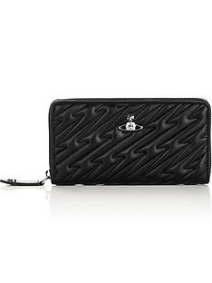 vivienne-westwood-coventry-zip-round-quilted-wallet-black