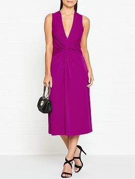 by-malene-birger-damilla-knot-front-dress--nbspmagentanbsp