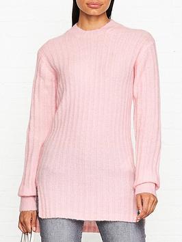 by-malene-birger-syllo-wool-rib-jumper-pink