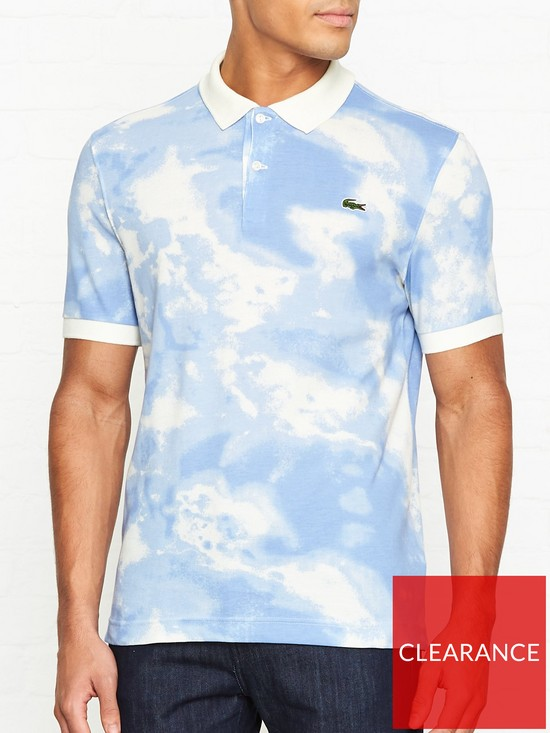 7a310418d4 LACOSTE LIVE Cloud Print Polo Shirt - Blue | very.co.uk