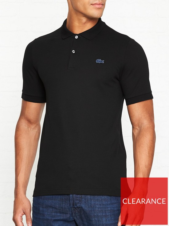 c578bbbd LACOSTE LIVE Logo Detail Classic Polo Shirt - Black | very.co.uk