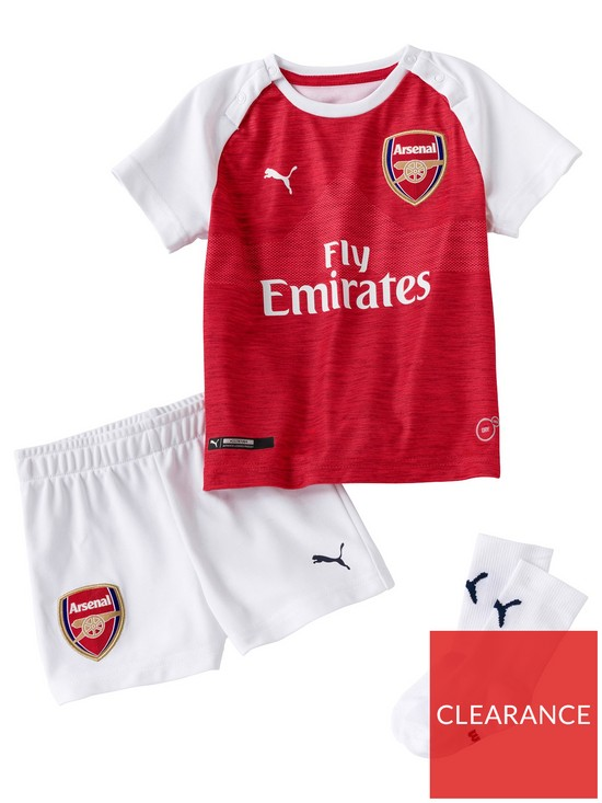 buy popular f1abb dab6e Puma Arsenal Kids Home 18/19 Replica Mini Kit