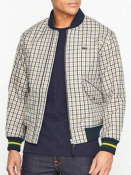 lacoste-live-check-bomber-jacket-brown