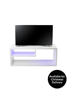 Newton High Gloss TV Unit with LED Lights - fits up to 46 inch TV