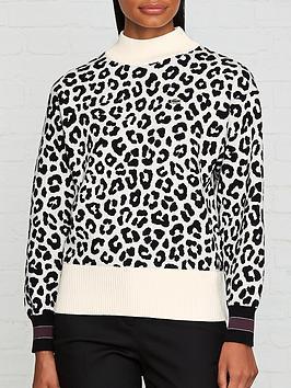 lacoste-live-jacquard-leopard-jumper--nbspblackwhite