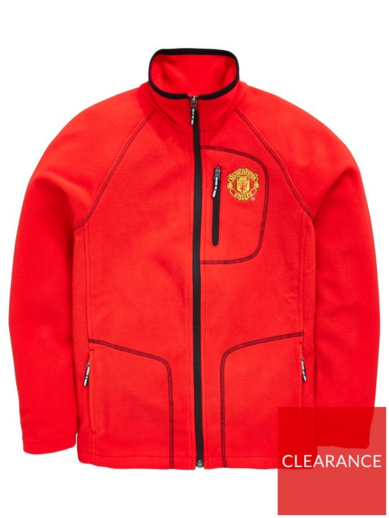 576c135b Columbia Youth Columbia Manchester United Fast Trek Full Zip Fleece Jacket
