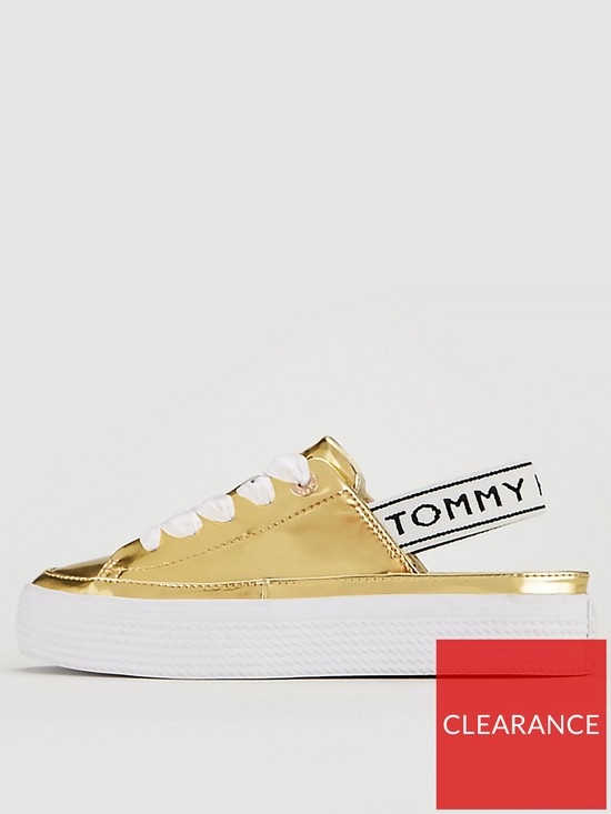 f7737307860 ... Tommy Hilfiger Mirror Metal Slingback Trainer - Gold. View larger