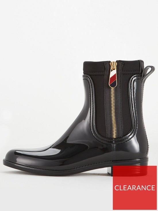 bbba86d9e6e6 ... Tommy Hilfiger Gloss Ankle Rain Boots - Black. View larger