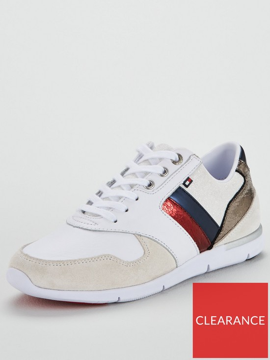 Tommy Hilfiger Leather Light Sneaker - White  4e2af550fc7