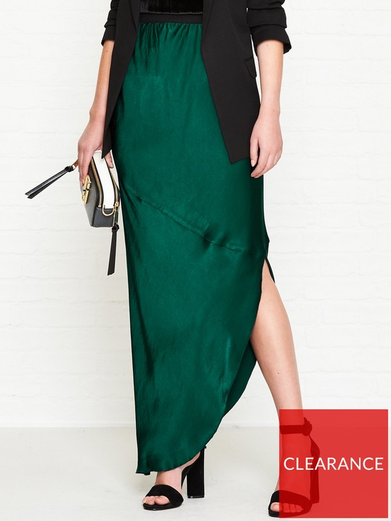 63784e976b3 BY MALENE BIRGER Aliviay Asymmetric Midi Skirt - Green | very.co.uk