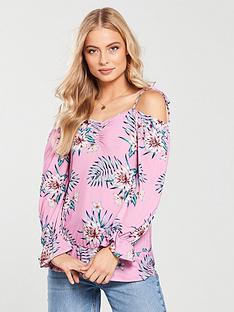 v-by-very-tie-shoulder-printed-jersey-top-pink-print