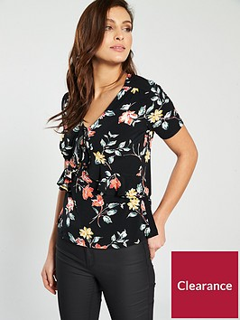 v-by-very-jersey-ruffle-detail-top-floral-print