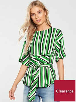 v-by-very-stripe-tie-waist-top